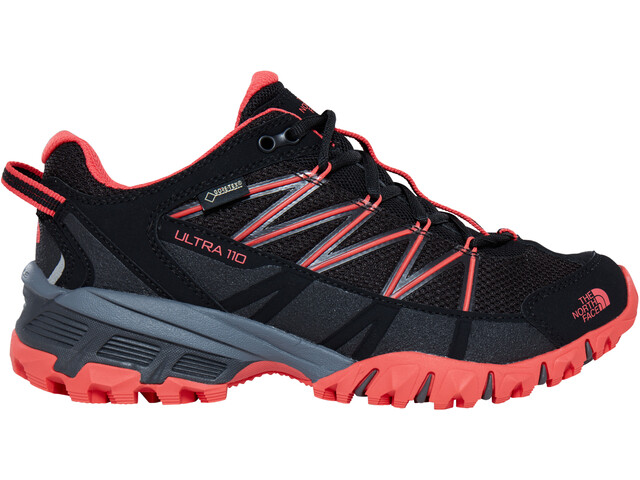 The North Face Ultra 110 GTX Shoes Dam tnf black/cayenne red